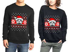 Santa Stormtrooper  Christmas Ugly Sweater Jumper CREWNECK Sweatshirt S-5XL