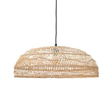 Wicker Rattan Cap Pendant Light Fixture Vintage Country Style Lamp Dining Room