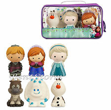 NEW Disney Store FROZEN 6 piece Bathtub Bath Toy Set Swimming Pool Fun W/Case