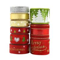 9Pcs Lots Silk Satin Ribbons Decoration Gift Wrapping Christmas Apparels DIY