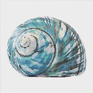 Shell Nautical Ocean Cross Stitch Pattern by Meloca Designs
