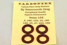 PENN 155 350 109 & OTHER REELS CARBONTEX CARBON UPGRADE SMOOOOTH DRAG WASHER SET