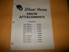 wheel horse SNOW ATTACHMENTS MANY MODELS    VINTAGE TRACTOR