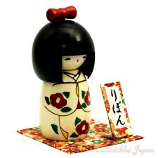 Lovely Japanese Kokeshi Doll RIBBON by Usaburo w/gift #107