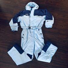 Boy Girl Sz 18-20 XL Columbia Blue Snowsuit One 1 Piece Waterproof Snow Ski Suit