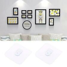 2pcs Seamless Self Adhesive Hook Wall Hanger Hanging Holder kits For Picture