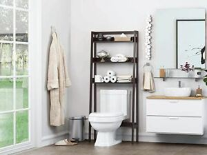 UTEX 3-Shelf Bathroom Organizer Over The Toilet, Bathroom Space saver, Bathroom