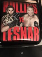 WWF WWE Battleground 2015 Signed Ringside Chair Seth Rollins Indianapolis