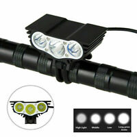 Bicycle Headlight MTB Road Bike Cycling Front Light Bright 3LED USB Rechargeable