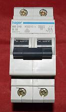 hager Leitungsschutzschalter B10A 2P 6KA neu MB 210 (N9)