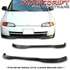 92-95 Honda Civic 4-Door Flexible Front Bumper PU Lip (Urethane)