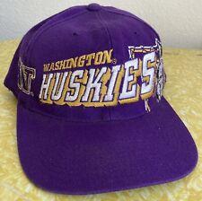 Vintage Washington Huskies Sports Specialties Snapback 90s Hat Shadow Wool