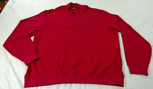 PING 1/4 Zip Scramble Pima Golf Pullover Mens XXL Crimson Long Sleeve Cotton EUC