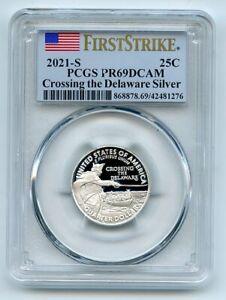 2021 S 25C Silver Crossing the Delaware Quarter PCGS PR69DCAM First Strike
