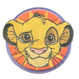 Disney © Der König der Löwen Simba Kopf - Aufnäher / Bügelbild