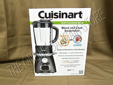 Cuisinart SBC-1000 4-Speeds Blender Soup Maker heated crock pot Cooker