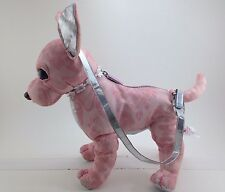 Pink and Silver Chihuahua Puparazzi Purse ~ Poseable! ~  Ships FREE!