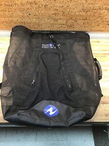 Aqua Lung Large Size Mesh Backpack Gearbag For Regulator, Find, Snorkel Etc D-2