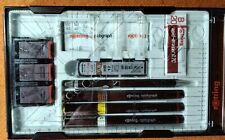 More details for reduced rotring rapidograph collage drawing pen set - used - pristine condition