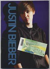 Justin Bieber TOUR/CONCERT PROGRAM w/TICKET STUB Nippon Budokan, Tokyo 5/19/2011