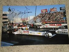 COURTNEY FORCE & BRITTANY FORCE NHRA DRIIVERS SIGNED 8X12 PHOTO coa