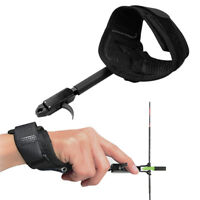 U.S. Solid Archery Compound Bow Release Aid w/ Adjustable Wrist Strap Black
