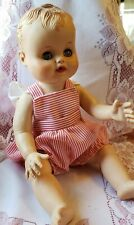 VINTAGE BABY DOLL OPEN/SHUT EYES MOLDED HAIR 1950'S 1960'S