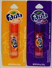 2 FANTA Flavored Lip Balms ORANGE FLAVOR & GRAPE FLAVOR Full Size NIP