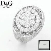 DG Men's 925 Sterling Silver,CZ Eternity Ring,Size 8,9 10 11,12 13*Box