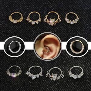 Assorted Beautiful Diamond Nose Lip Ear Ring Cartilage Hoop Septum body Piercing