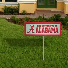 NCAA- ALABAMA CRIMSON TIDE Garden Sign w/ Ground Stake- BRAND NEW- FREE SHIPPING