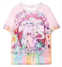 Pink Monster Sweets for the Sweet T-Shirt Kawaii Harajuku Fashion Goth - LS0006