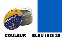 CIRAGE CUIR CHAUSSURE POMMADIER BLEU IRIS 25 SAPHIR AVEL nourrit recolore