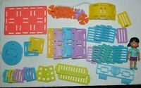 ROOMINATE Playset Pieces 39 Pieces + Figurine 3 Inches Tall Excellent Conditions