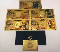 2 Collections billets yen NARUTO Manga Gold Collection / Carte Card 5+5 news