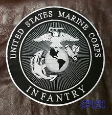 United States Marine Corps Infantry Biker Motorcycles Vest Jacket Back Patch 10""