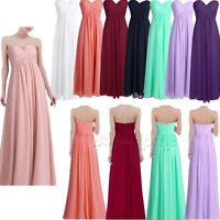 Womens Bridesmaid Dress Long Maxi Formal Party Evening Prom Dresses Ball Gown