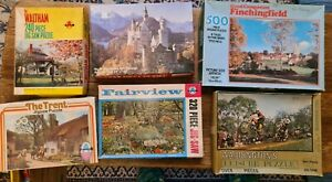 6 x Vintage jigsaw puzzles