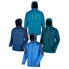 Mens Waterproof Jacket Hiking Gym Lightweight Raincoat Outdoor Hoodie Calderdale