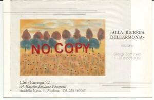 Modena 1/31.3.2002, Luciano Pavarotti, Club Europa '92 Arte, espone G. Cattaneo.