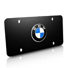 BMW Stainless Steel Marque License Plate BMW Logo ~Black~