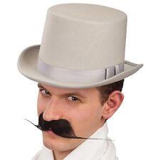 20er 30er Jahre Zylinder feiner Herr in grau Steampunk Western Kopfbedeckung Hut