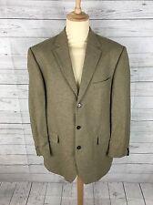 Mens Bugatti Pure New Wool Tweed Jacket/Blazer - 46L - Beige - Great Condition