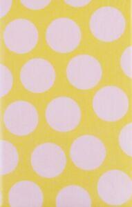 Cabana Polka Dots Vinyl Flannel Back Tablecloth -Various Sizes/Colors