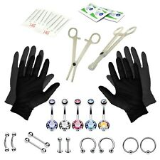 BodyJ4You® Body Piercing Kit Belly Tongue 5 Belly Ring Eyebrow Jewelry 14G 35pcs