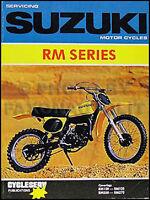 1975-1980 Suzuki RM100 and RM125 Shop Manual RM 100 125 Motorcycle Repair 1976