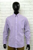 Camicia OVS Uomo Taglia 42 Collo 16,5 COTONE Chemise Righe Man Regular Fit