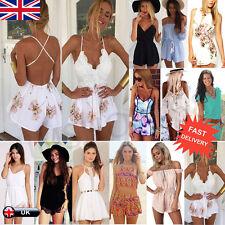 donna vacanza MINI tutina tuta intera vestito da spiaggia estivo DIMENSIONE 6-14