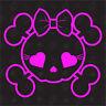 Girly Tête De Mort - Tuning Sticker, Crâne, Voiture Autocollants Marrants