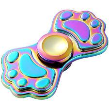 Rainbow EDC Dog Footprint Shape Fidget Hand Spinner Focus Desk Toy Stocking Kids